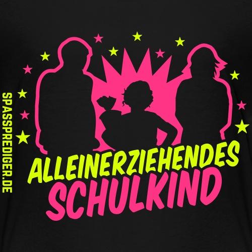 Alleinerziehendes Schulkind, Mädchen - Kinder Premium T-Shirt
