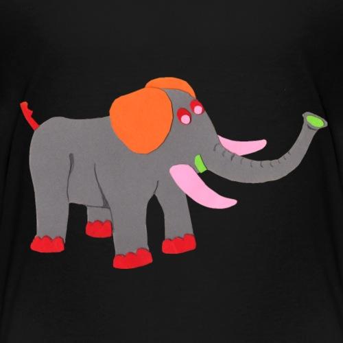 Luisa-0007-Elephant - Kinder Premium T-Shirt
