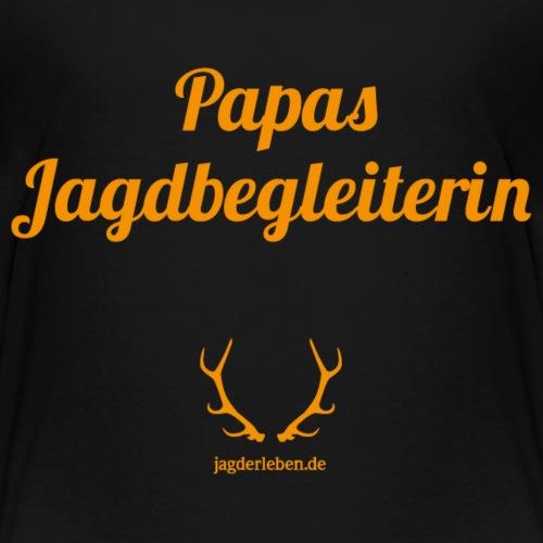 Papas Jagdbegleiterin orange - Kinder Premium T-Shirt