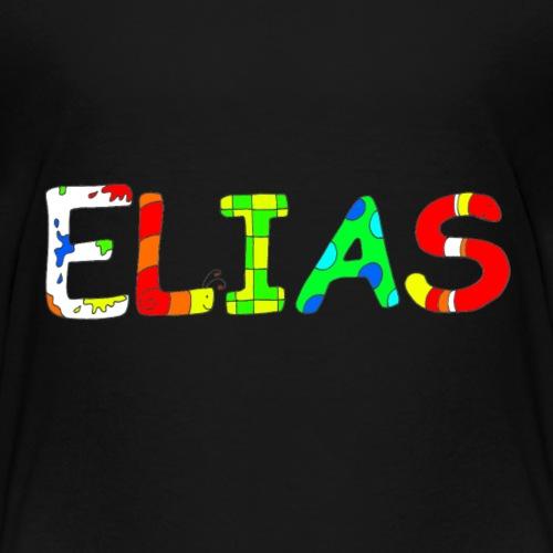 Name Elias mit kunterbunten Buchstaben - Kinder Premium T-Shirt