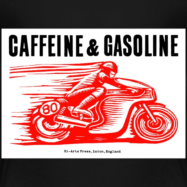 Caffeine & Gasoline black text