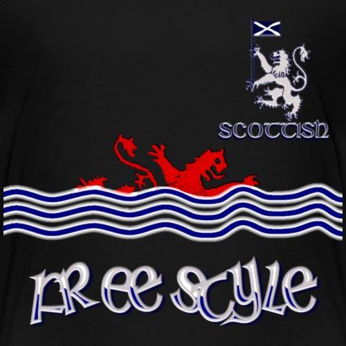 scotland_freestyle_swimming - Kids' Premium T-Shirt