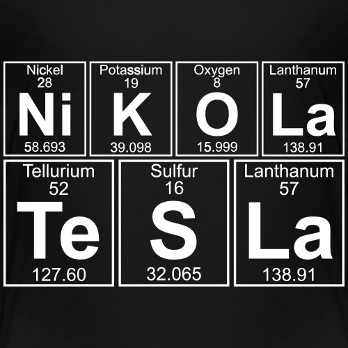 Ni-K-O-La Te-S-La (nikola_tesla) - Full - Kids' Premium T-Shirt