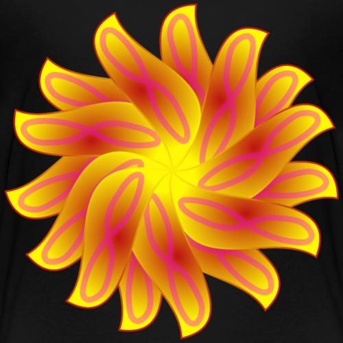 flower yellow orange red - Kids' Premium T-Shirt