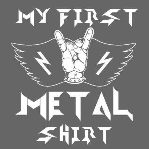 My first Metal Shirt Baby Kinder Heavy Metal - Kinder Premium T-Shirt