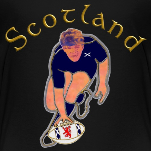 Scotland rugby player try score - Kids' Premium T-Shirt