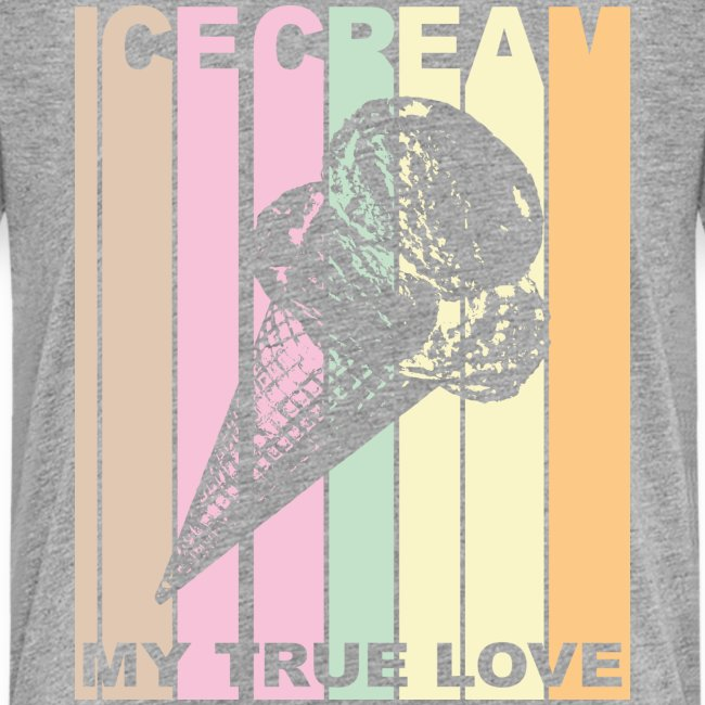 Ice Cream T-shirt Design im Vintage Look