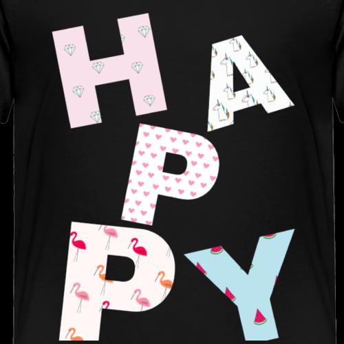 Happy - Maglietta Premium per bambini