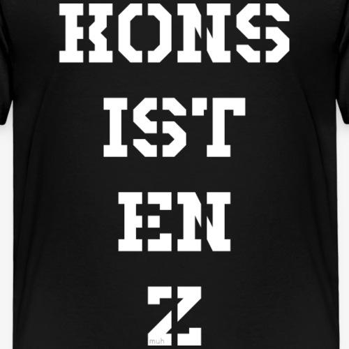 Konsistenz - weiß - Kinder Premium T-Shirt