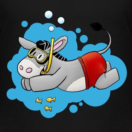 Esel - Kuschelesel geht schwimmen - Kinder Premium T-Shirt