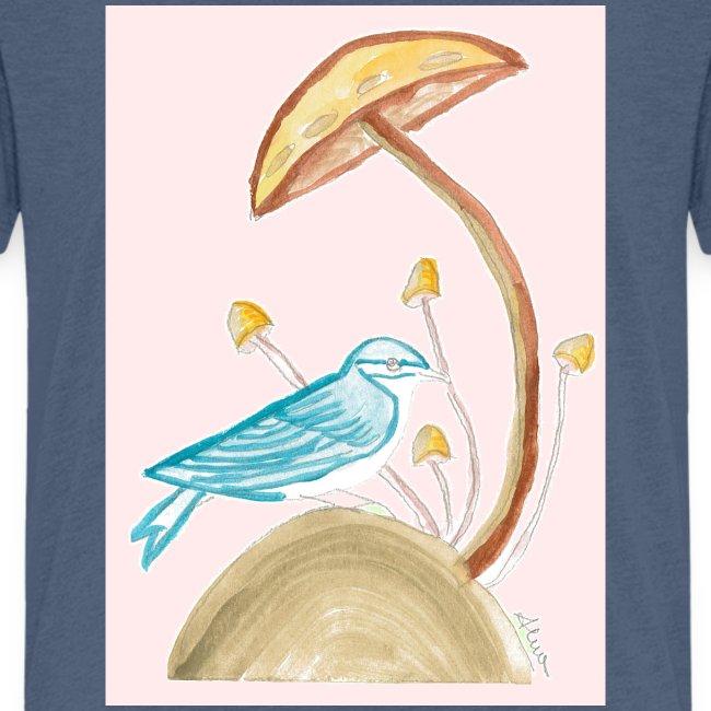 fungo con uccello
