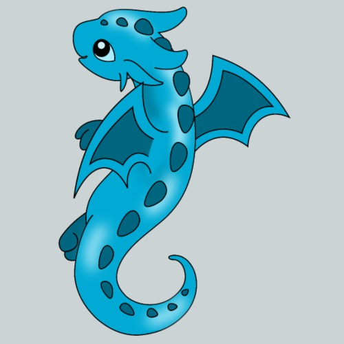 Sweet Blue Dragon - Kids' Premium T-Shirt