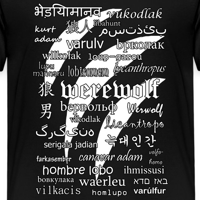Werewolf in 33 Languages (Black Version)