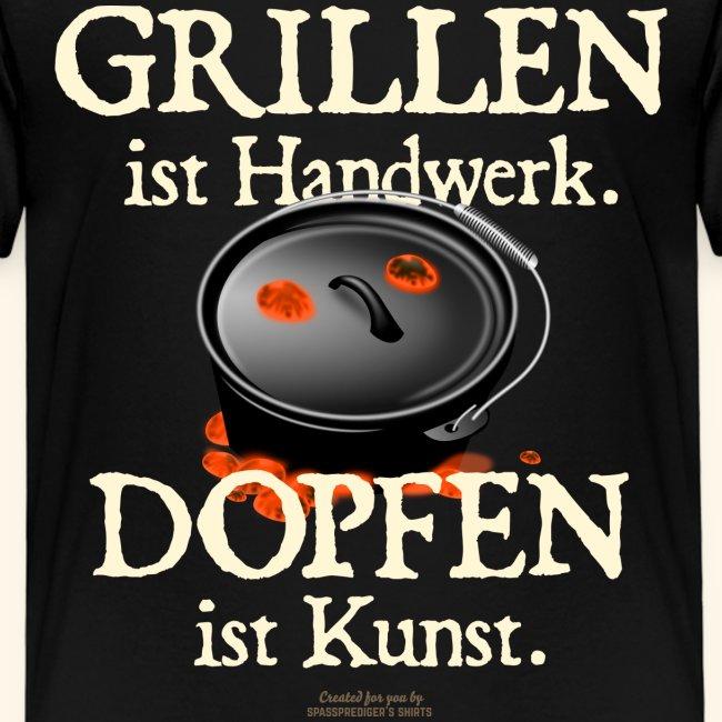Grillen Handwerk, Dopfen Kunst Dutch Oven T-Shirt