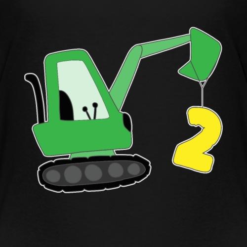 Geburtstag Jungen 2 Jahre alt Bagger Geschenk - Kinder Premium T-Shirt