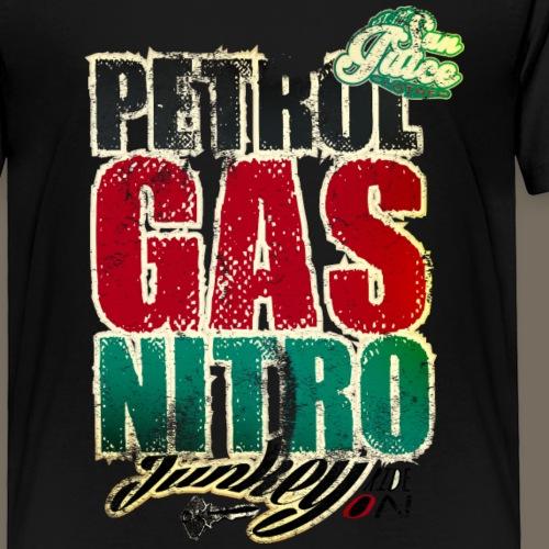 petrol gas nitro junkey - Kinder Premium T-Shirt
