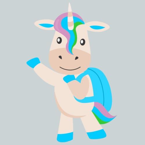 unicorn with backpack - Kids' Premium T-Shirt