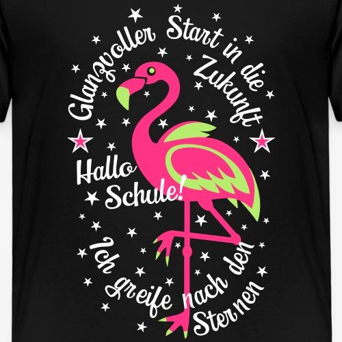 18 Flamingo Glanzvoller Start Zukunft Schulkind - Kinder Premium T-Shirt