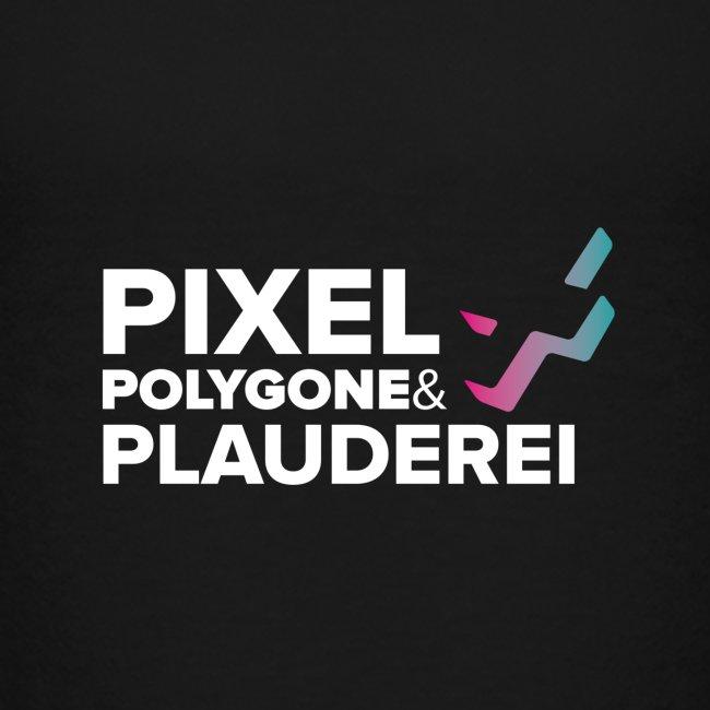 Pixel Polygone Plauderei Logo Weiß