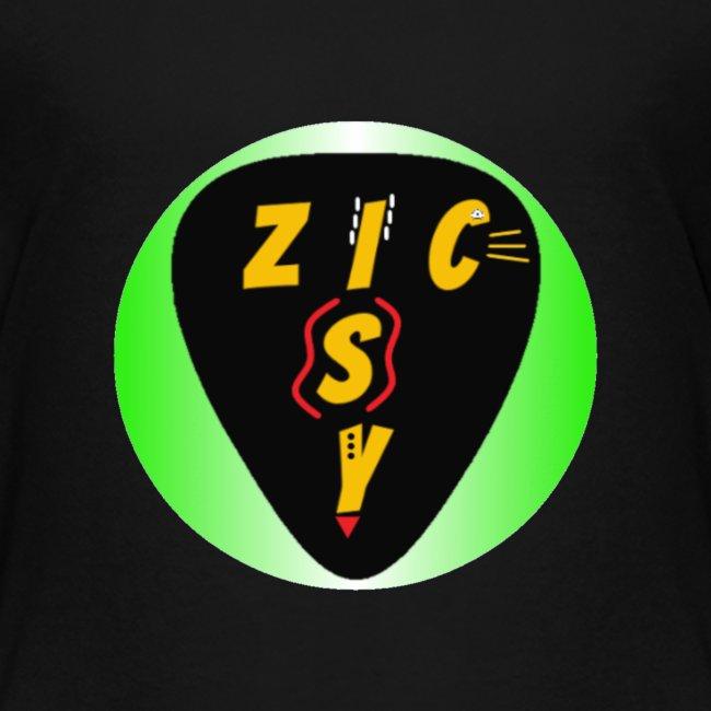 Zic izy rond dégradé vert