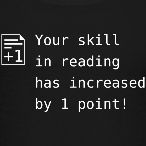 Your skill in reading - Kinder Premium T-Shirt