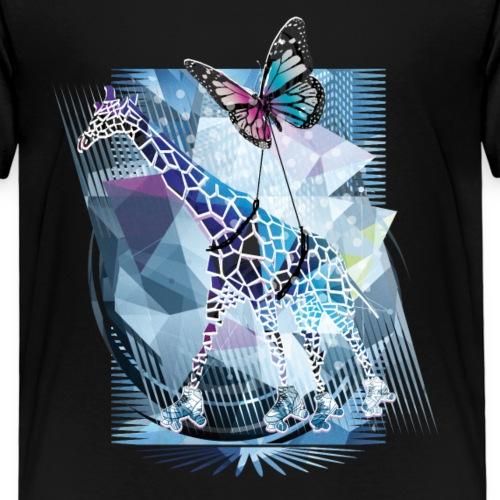Giraffe & Schmetterling | Frühling - Kinder Premium T-Shirt