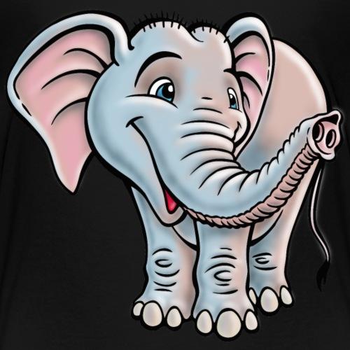 Elefant lächelt freundlich - Kinder Premium T-Shirt