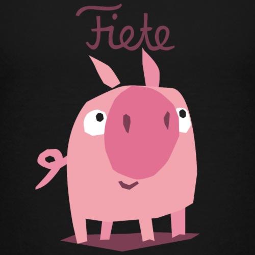 'Piggy' Fiete Kids Baseball Shirt - black - Kinder Premium T-Shirt