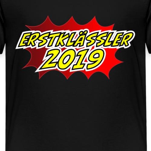 Erstklässler 2019 Schulanfang Einschulung 1.Klasse - Kinder Premium T-Shirt
