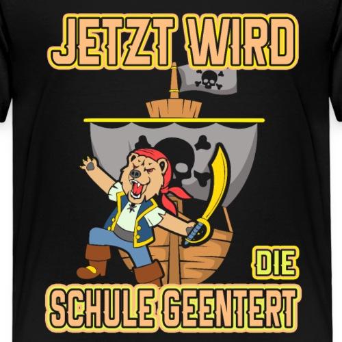 Schulpirat Schulkind Einschulung Geschenk Jungen - Kinder Premium T-Shirt