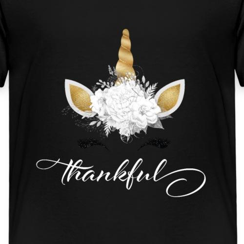 Thankful Unicorn - Dankbares Einhorn - Kinder Premium T-Shirt
