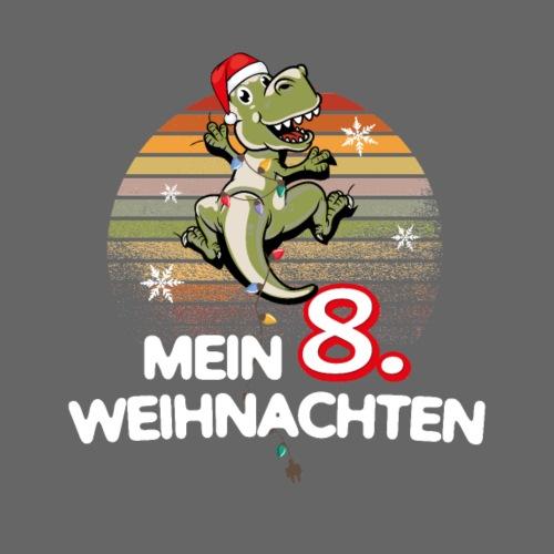 8. achtes Weihnachten Geschenk Mädchen Junge Dino - Kinder Premium T-Shirt