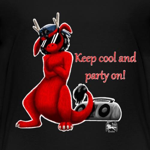 drachi cool rot weißlogo - Kinder Premium T-Shirt