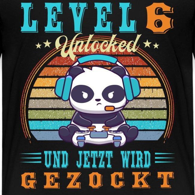 Gamer Gaming Geburtstag Level Up Complete 6 Jahre