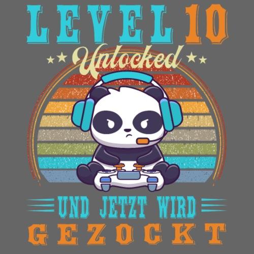 Gaming Geburtstag Level 10 Jahre Geburtstagsshirt - Kinder Premium T-Shirt