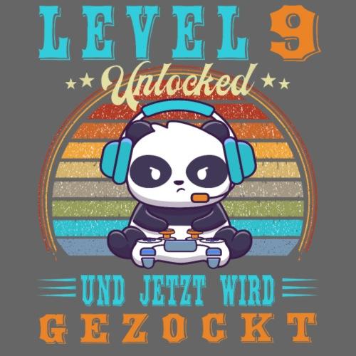 Gaming Geburtstag 9 Jahre Level Geburtstagsshirt - Kinder Premium T-Shirt