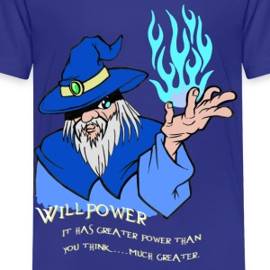 Willpower Wizard Blau / Hellblau Flamme - Kinder Premium T-Shirt