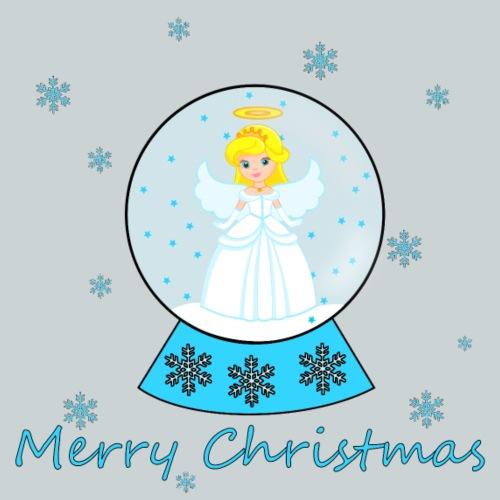 Snow globe angel Merry Christmas - Kids' Premium T-Shirt