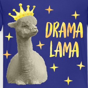 Drama Lama yellow - Kids' Premium T-Shirt