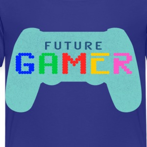 Blue Future Gamer Design by Juiceman Benji Gaming - Kinderen Premium T-shirt