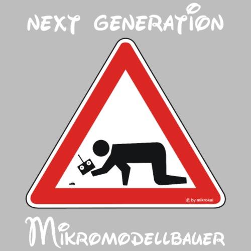 Warnschild Mikromodellbauer Next Generation - Kinder Premium T-Shirt