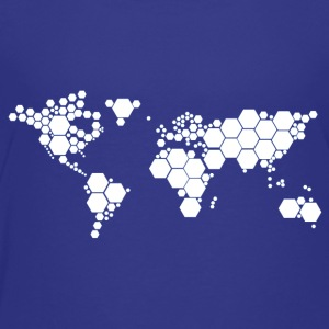 Abstract World Map - Kids' Premium T-Shirt
