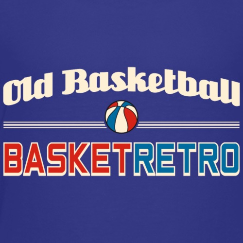 Old basketball fond fonce ue - T-shirt Premium Enfant