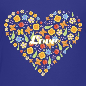 Hjerte av blomster - Summer Love - Premium T-skjorte for barn