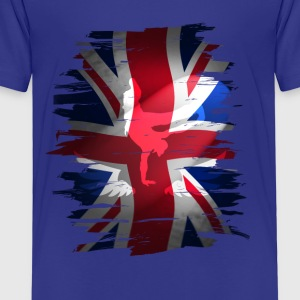 Union Jack skater Uk Flagge England London lol coo - Kinder Premium T-Shirt