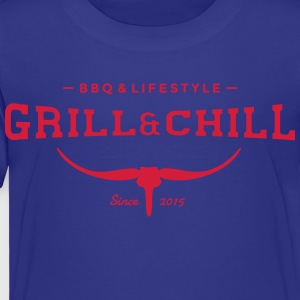 Grill and Chill / BBQ and Lifestyle Logo 2 - Kinder Premium T-Shirt