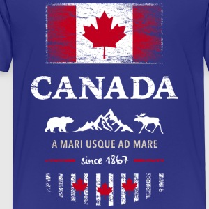 Canada Canada America maple leaf flag banner Bear - Kids' Premium T-Shirt