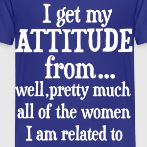 I get my attitude from shirt - Kids' Premium T-Shirt