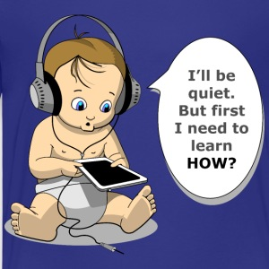 baby with headphones - Kids' Premium T-Shirt