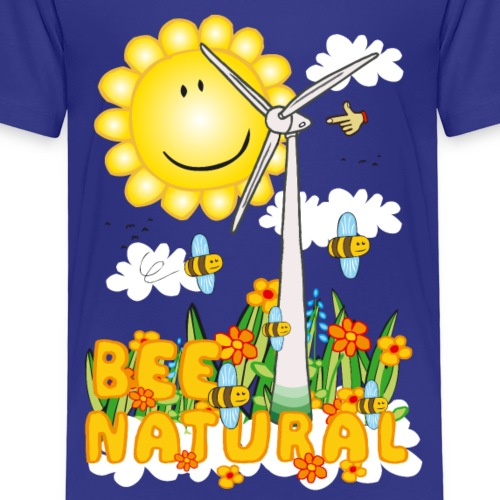 Bee Natural Windmill - Bee Beautiful Collecting - Kinderen Premium T-shirt